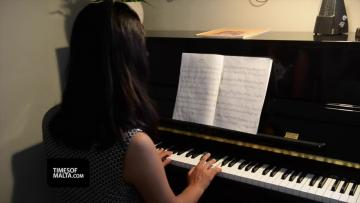 Watch: Quiet Alessia, 13, absolutely masters the piano | Video: Matthew Mirabelli