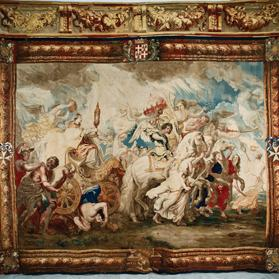 Triumph of the Church tapestry, 6.65 m x 6.10 m – St John's Co-Cathedral Museum.