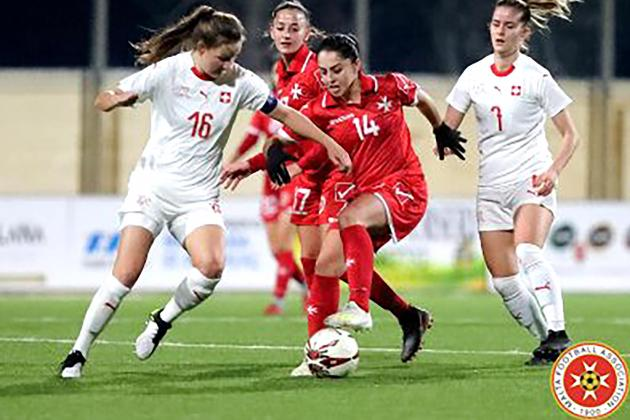 Spirited Malta women hold Switzerland to 2-2 draw