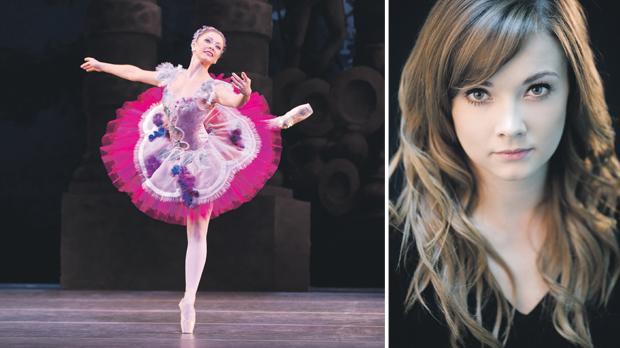 Left: Claire Calvert as the Lilac Fairy in Sleeping Beauty. Photo:Johann Personn