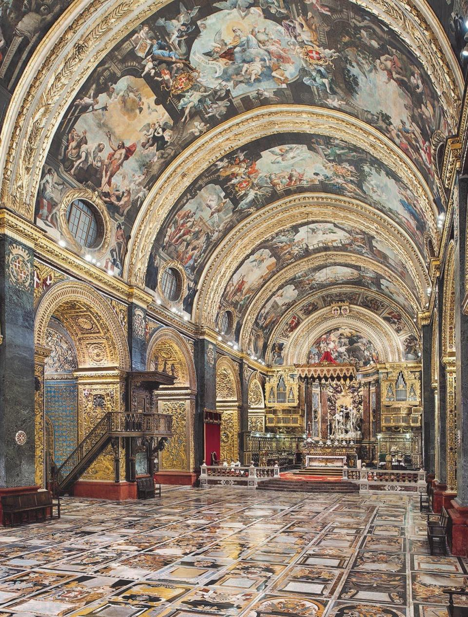 Interior view of St. John's Co-Cathedral, Valletta