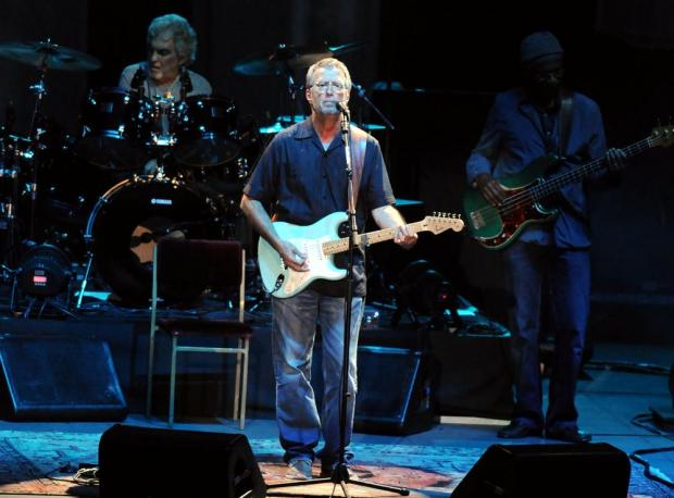 Eric Clapton in concert in 2012. Photo: Shutterstock