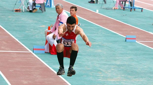 Aiming high... Long and triple jumper Ian Paul Grech is willing to make a name for himself and Malta.