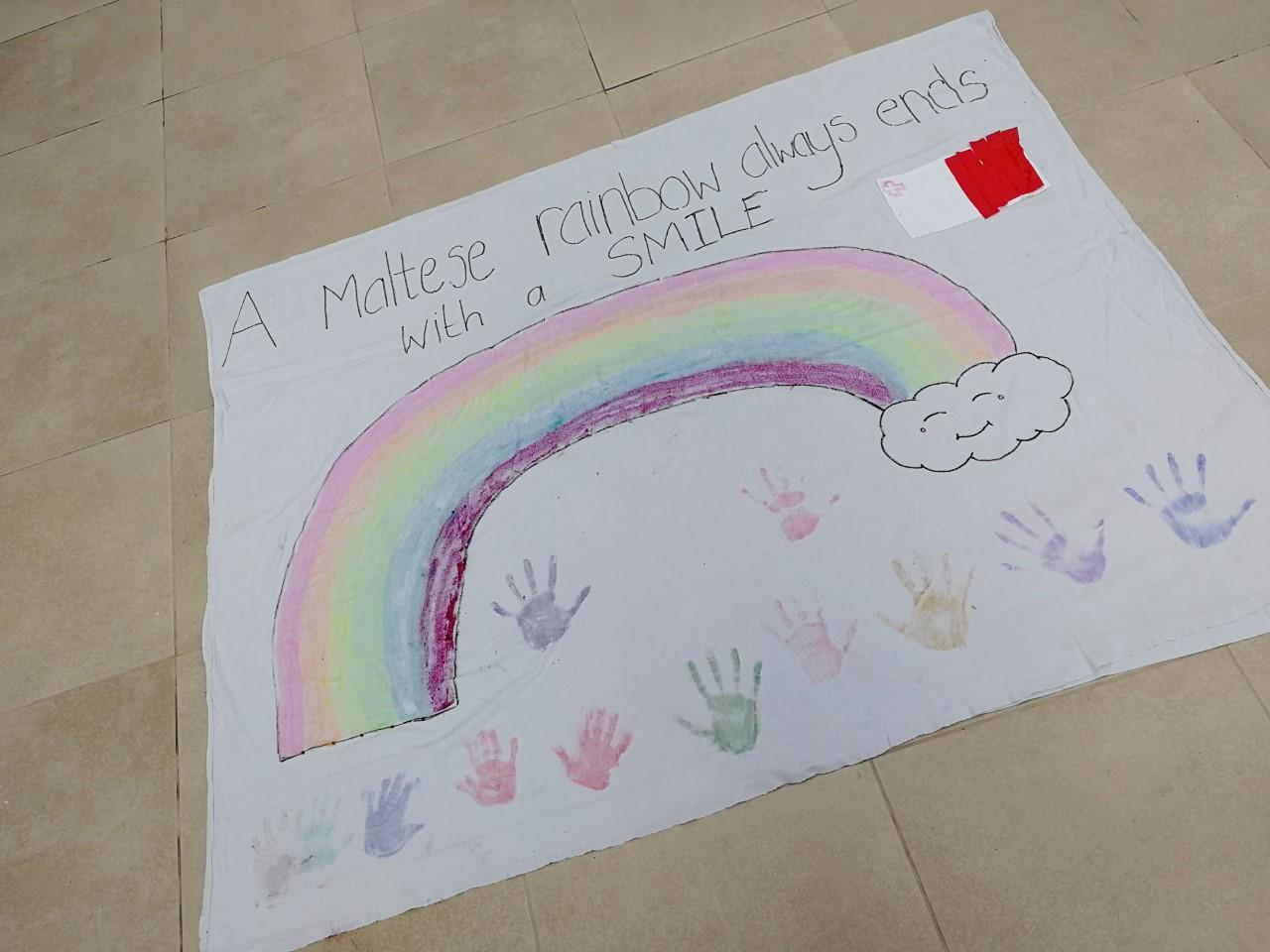 Siblings from Żabbar remind us that a Maltese rainbow always ends with a smile.