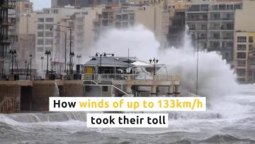 Gale-force winds leave Malta looking rubbish  | Two weeks ago, a massive storm left plenty of damage in its wake.