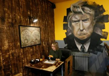 In Siberia, a Trump burger joint draws customers and occasional ire