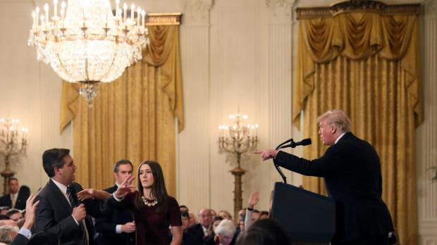 President Trump clashed with CNN correspondent Jim Acosta last week. Photo: Reuters