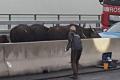 Herd instinct blocks German highway