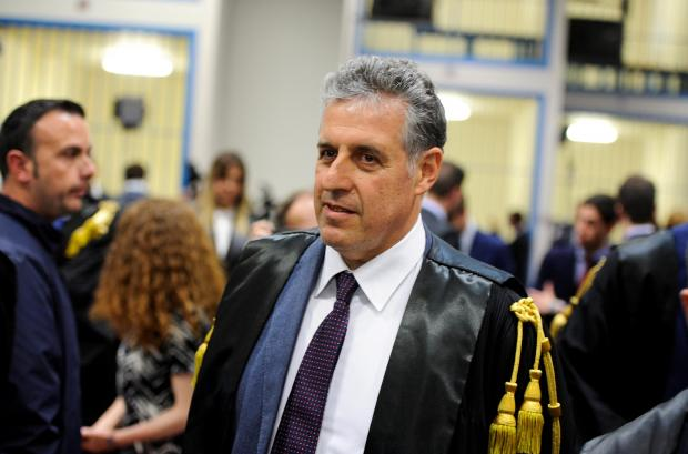 Prosecutor Antonino Di Matteo waits for the reading of the sentence in Palermo. Photo: Reuters
