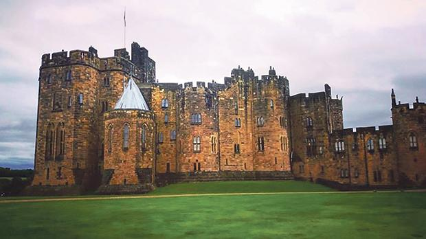 The exterior of Alnwick Castle.