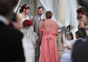 Joanne and Kurstin Sciberras Edwards during yesterday's wedding ceremony in San Ġwann.
