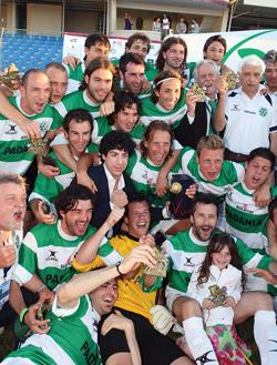 Padania celebrate their success at this year's VIVA World Cup.