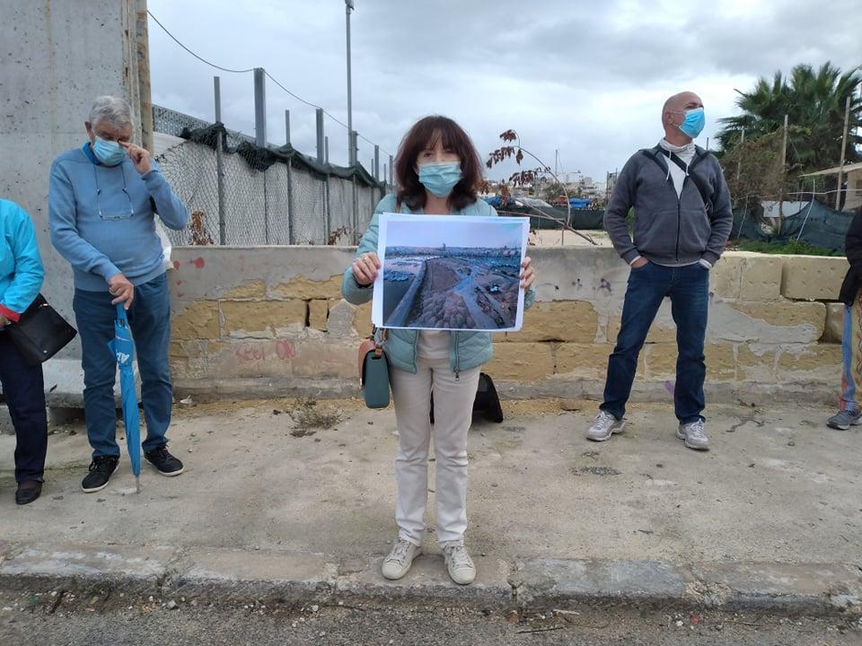 FAA's Astrid Vella showing drone shots of an area in Manoel island. Photo: Julian Delia
