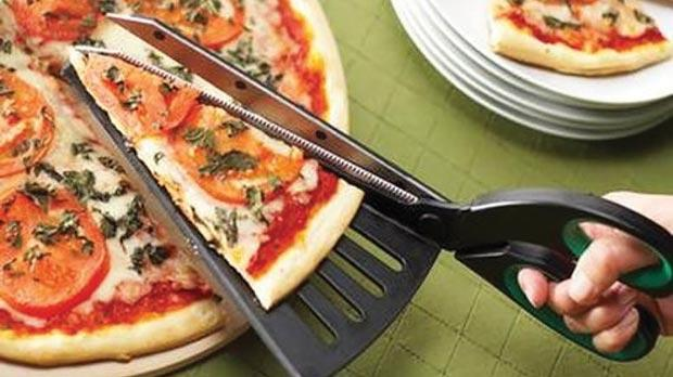 The Pizza Scissors cut through pizza as though it is cardboard.