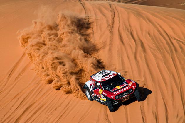Pressure on Sainz as Peterhansel edges Al-Attiyah in Dakar stage 9