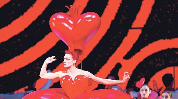 Zenaida Yanowsky as the Queen of Hearts