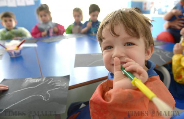 A group of toddlers enjoy the new facilities of Mickey's child education centre in Pietá for the first time, after it was officially opened by Education Minister Evarist Bartolo on May 12. Photo: Matthew Mirabelli