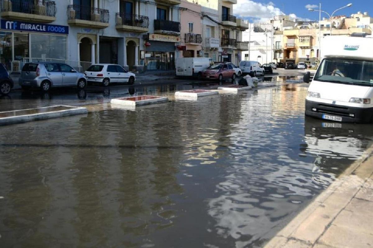 St George's Street in Birżebbuġa often floods.