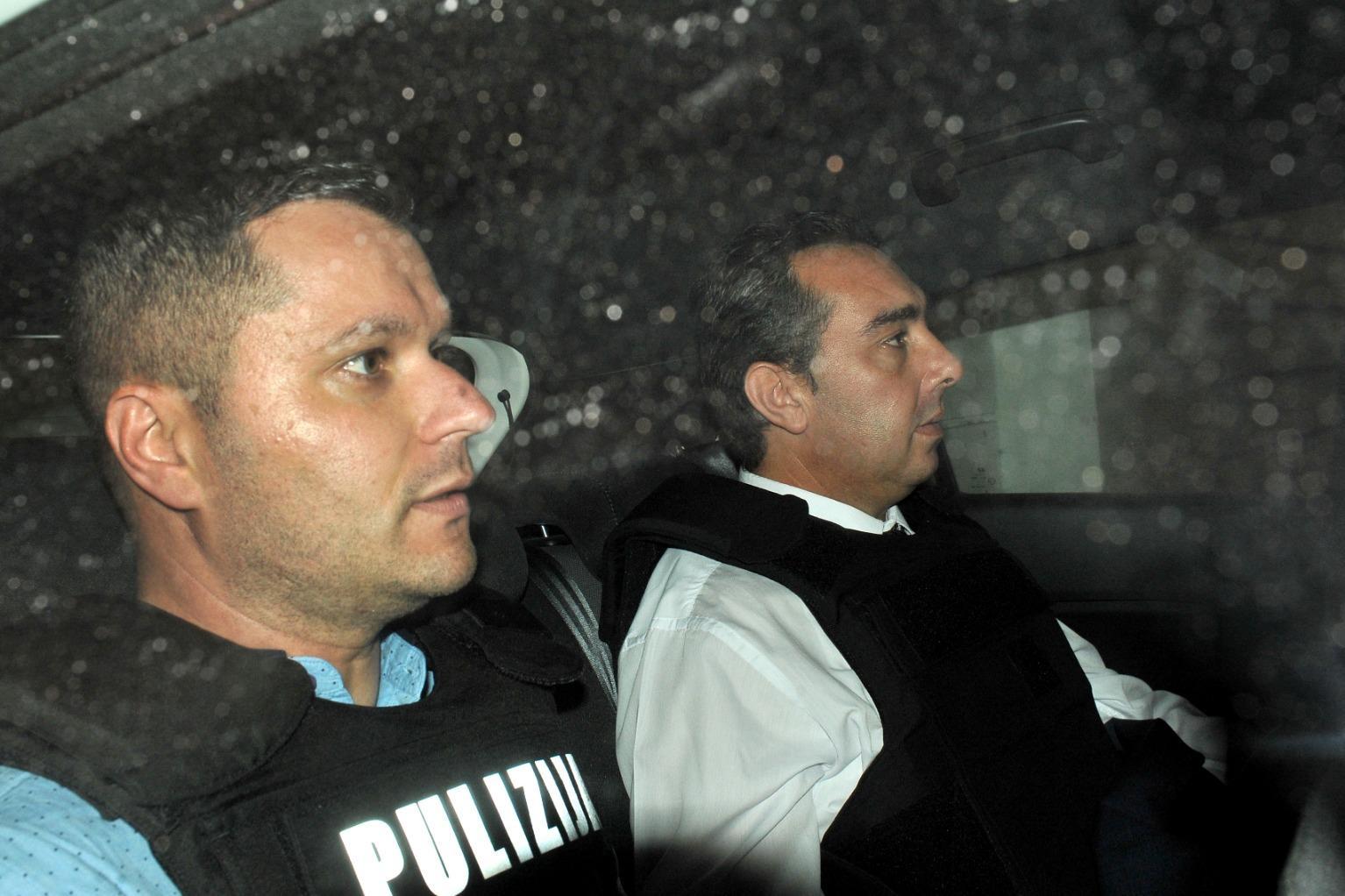 Melvin Theuma (right) leaving court last week. Photo: Chris Sant Fournier