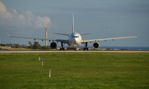 An Emirates Airbus prepares for take off at the Malta International Airport on December 4. Photo: Matthew Mirabelli