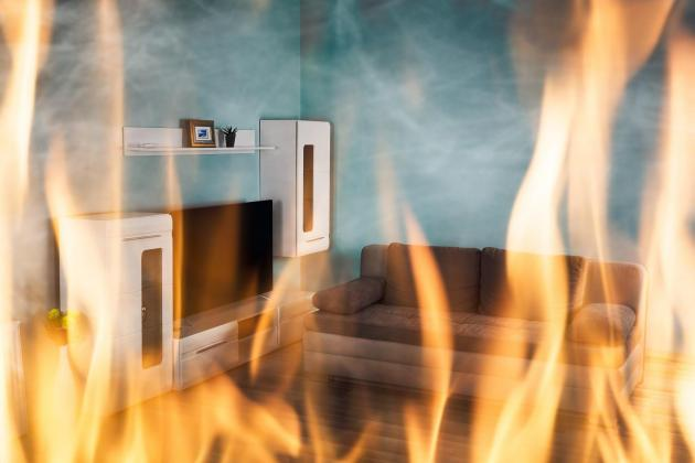 Man sets fire to his own home, then tells police all about it