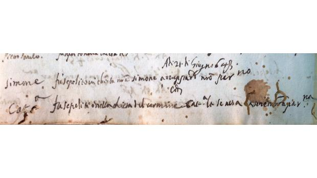 Burial entry of Caterina la Senese in the parochial archive of the church of Porto Salvo, Valletta, 1643. Courtesy of the Dominican Friars