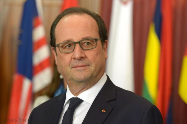French President François Hollande attends the Special Session on Climate Change at the Commonwealth Heads of State Summit at the Golden Sands Resort in Malta on November 27. Photo: Matthew Mirabelli