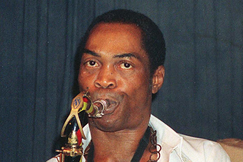 The great Nigerian musician Fela Kuti.