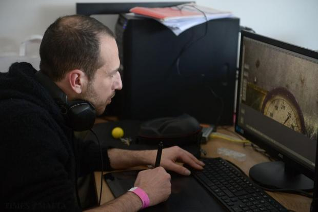 A game developer plugs away at his creation during the local edition of the Global Game Jam at the University of Malta on January 31. Photo: Matthew Mirabelli