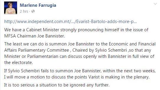 Dr Farrugia's Facebook post. Photo: Facebook