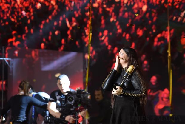 Christabelle Borg receives this years' Malta Eurovision song contest award with the song 'Taboo', at the MFCC in Ta Qali on February 3 Photo: Mark Zammit Cordina
