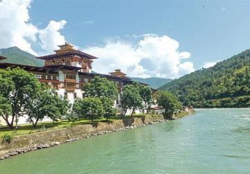 Punakha Dzong or 'The Palace of Great Happiness'.