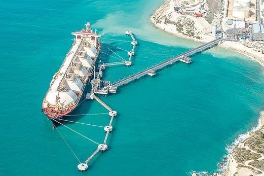 The floating gas storage unit off Delimara.