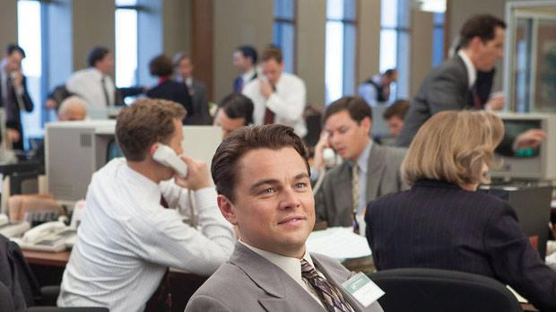 Leonardo DiCaprio delivers a raw and riveting performance in The Wolf of Wall Street.