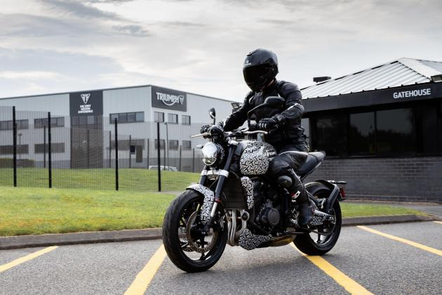 Triumph gives closer look at upcoming Trident in new images
