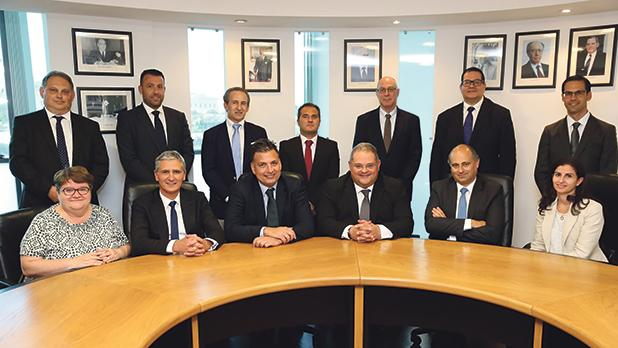 The Malta Institute of Accountants 2018-2020 Council. MIA president William Spiteri Bailey is seated fourth from left.