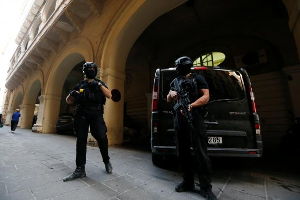 The hearing is taking place amid tight security. Photo: Reuters