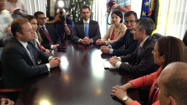 Flashback 2013 - Joseph Muscat and Simon Busuttil hold their first meeting.