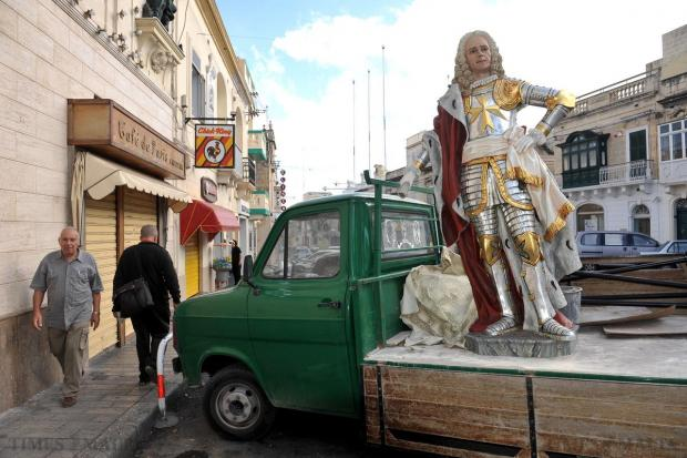 Grandmaster Pinto is seen on the back of a truck in Qormi on November 16. Photo: Chris Sant Fournier