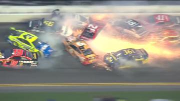 Watch: Massive 21-car crash at Daytona 500
