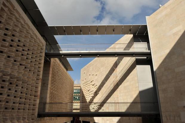 Parliament House in Valletta is seen on December 30. Photo: Chris Sant Fournier