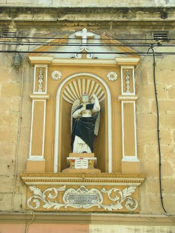 A niche depicting St Vincent in Marsa.