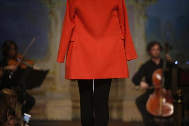 A model presents a creation by Mexx during the Pink Fashion Show at the Manoel Theatre in Valletta on November 15. Photo: Darrin Zammit Lupi