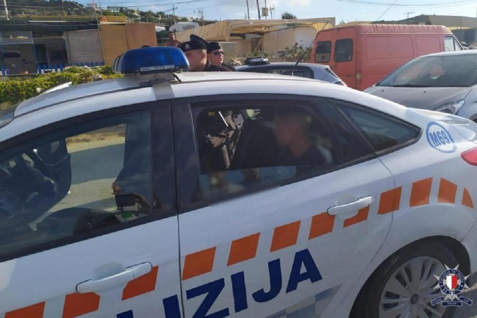 The suspects were arrested following a police chase. Photo: Malta Police