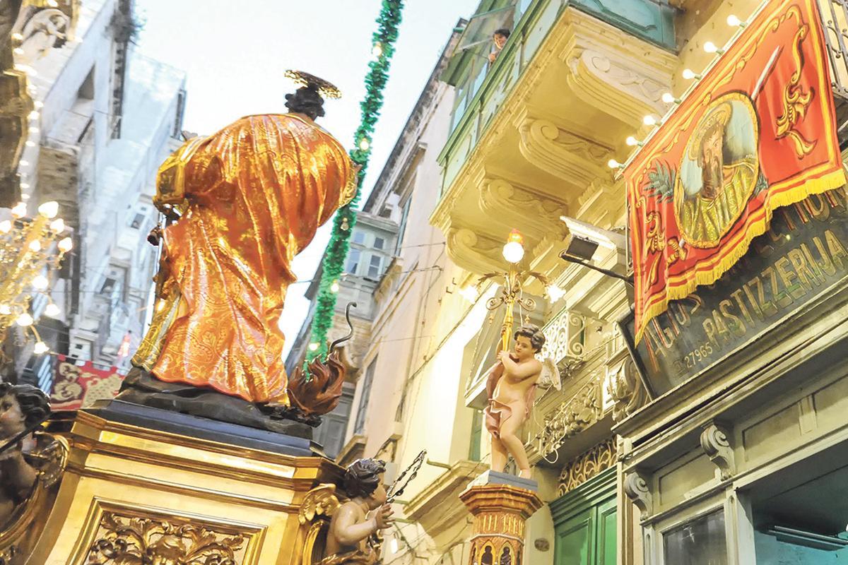 The baroque feast ofSt Paul Shipwrecked inValletta. Photo: Ray Attard