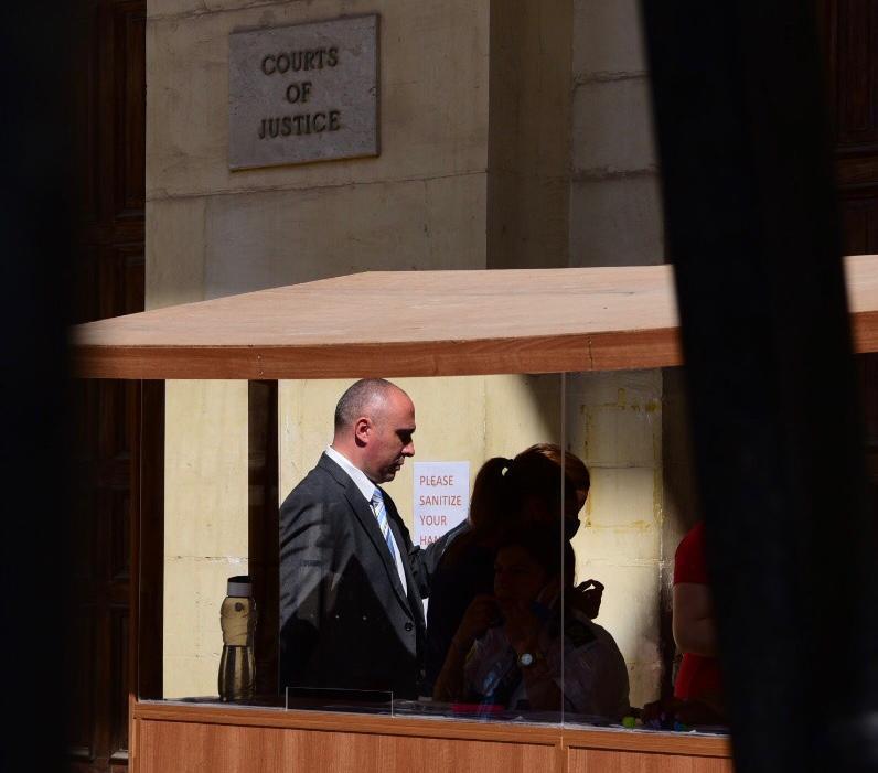 Keith Arnaud arrives at court on Thursday. Photo: Mark Zammit Cordina