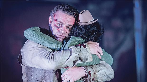 Joseph Calleja performing in Surrey, England, in Grange Park Opera's production of Tosca in June.