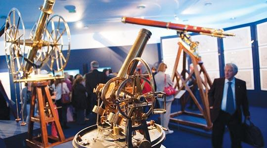 Telescopes are exhibited during the Astrum 2009, Astronomy and Instruments exhibition at the Vatican museum.