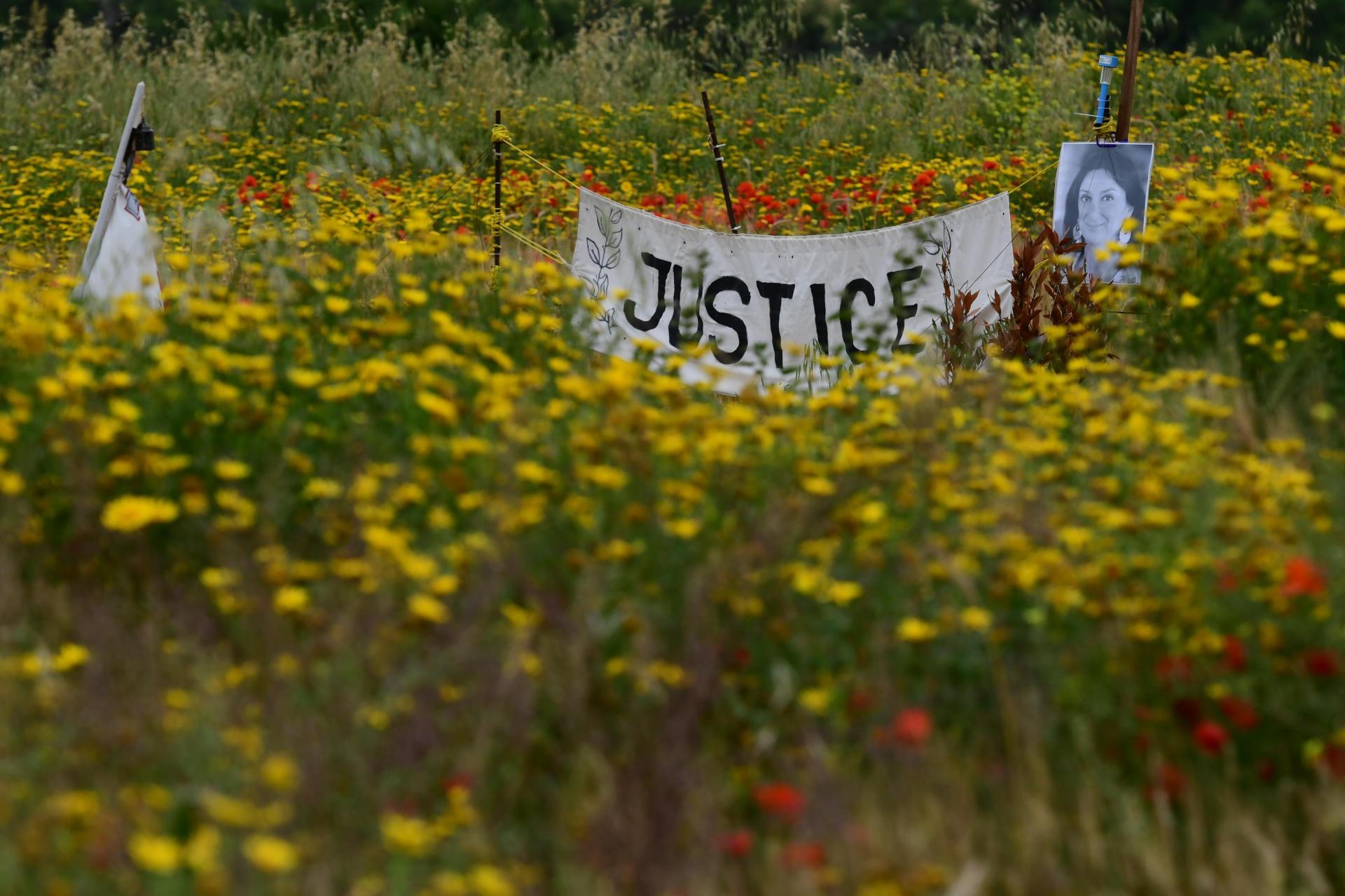 The site in Bidnija where Caruana Galizia was murdered.