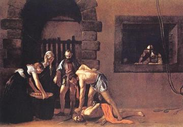The Beheading of St John the Baptist, Michelangelo Merisi da Caravaggio's 1608 masterpiece in the oratory of the cathedral.
